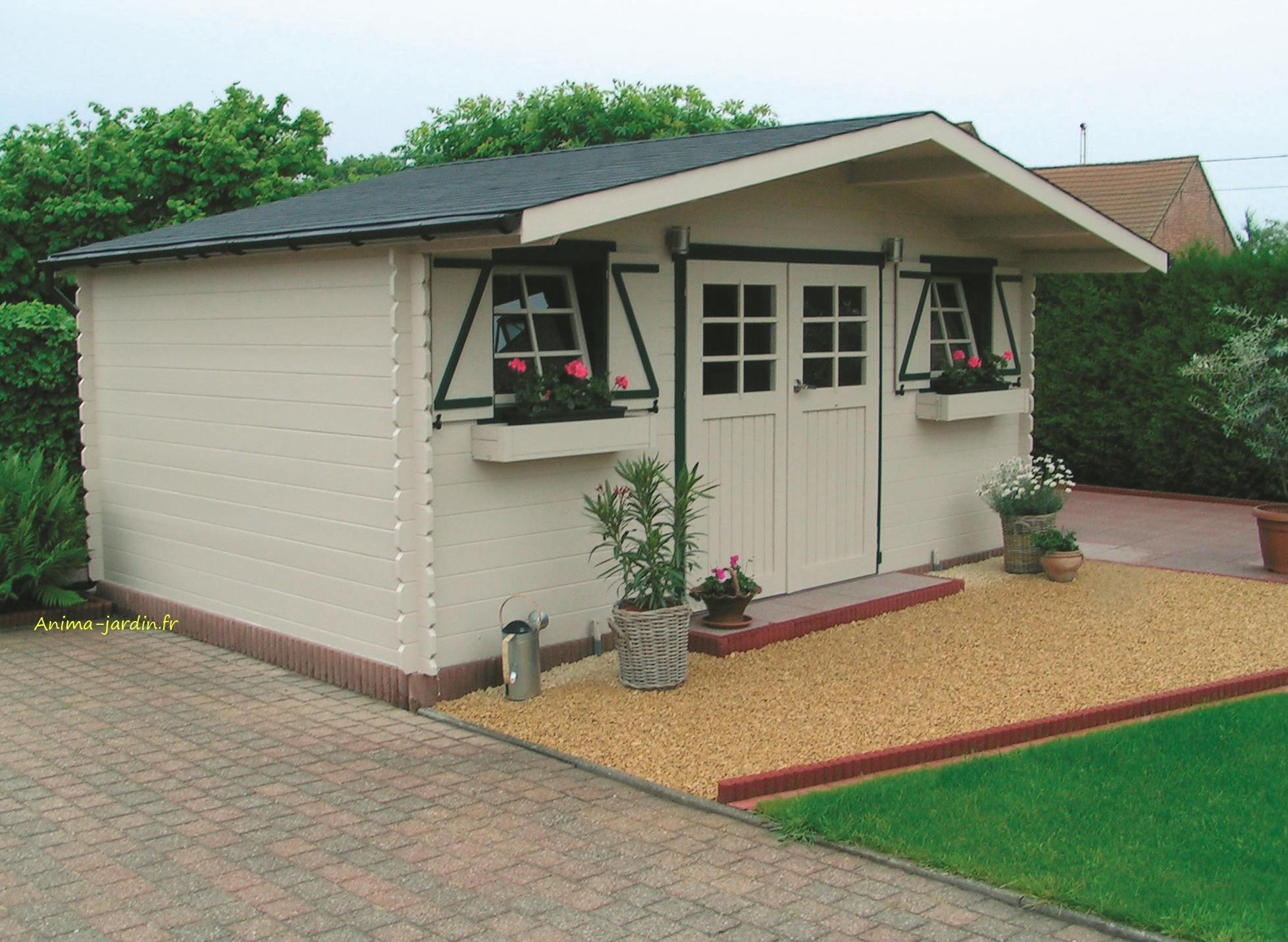 Abri de jardin en bois Dainville toit arrondi 5 88m² Solid