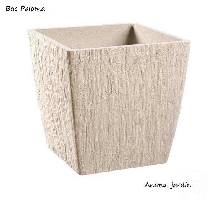 bac carr en pierre reconstitu paloma couleur pierre achat