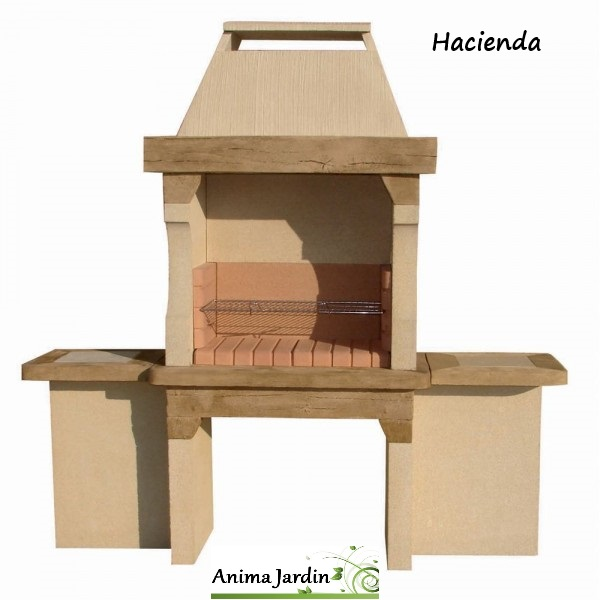 barbecue en pierre hacienda pas cher charbon de bois lib grandon achat vente. Black Bedroom Furniture Sets. Home Design Ideas