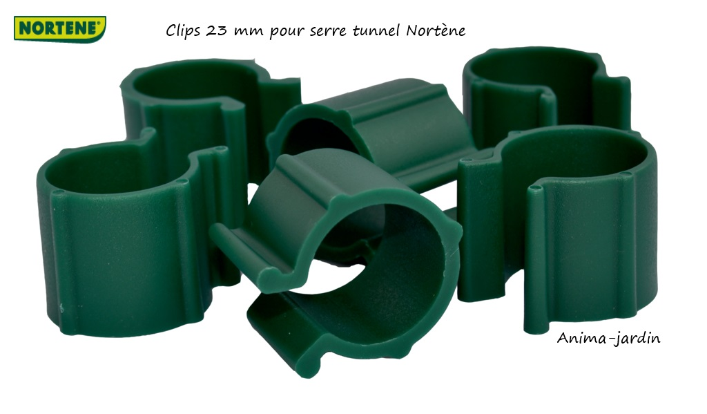 Clips plastique de fixation 23 mm pour serre tunnel for Bache de table de jardin