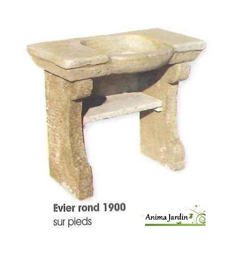 evier 1900 en pierre reconstitu e rond style ancien. Black Bedroom Furniture Sets. Home Design Ideas