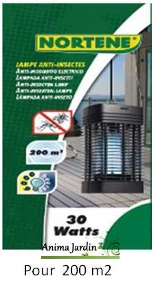 Lampe anti-moustiques et mouches, Nortene, lampe ultra-violet