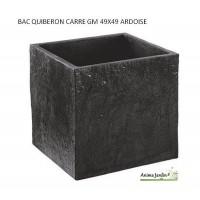 Bac carré en béton ciré 49 cm, Quiberon, couleur ardoise, achat