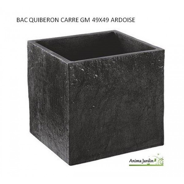 bac carr en b ton cir 49 cm quiberon couleur ardoise. Black Bedroom Furniture Sets. Home Design Ideas