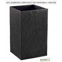 Bac carré haut en béton ciré, Quiberon, couleur ardoise, achat