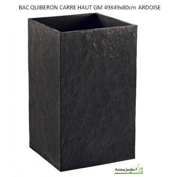 bac carr haut en b ton cir quiberon couleur ardoise achat. Black Bedroom Furniture Sets. Home Design Ideas