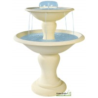 Fontaine Cascade en pierre reconstituée, 2 vasques, H 95 cm, achat/vente