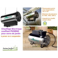 Chauffage électrique soufflant pour serre de jardin, 2800w, lams, achat/vente
