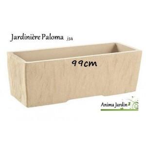 jardini re en b ton vibr 99cm paloma couleur pierre achat vente. Black Bedroom Furniture Sets. Home Design Ideas