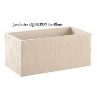 Bac, Jardinière en béton ciré 78cm, Quiberon, Blanche, achat, grandon