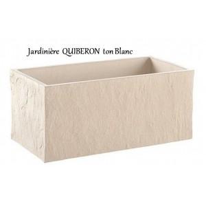 Bac jardini re en b ton cir 78cm quiberon blanche for Bac en beton jardin