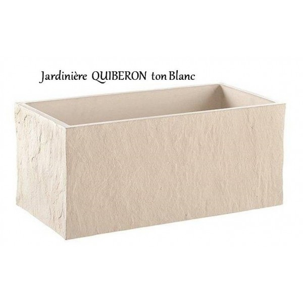 bac jardini re en b ton cir 78cm quiberon blanche achat grandon. Black Bedroom Furniture Sets. Home Design Ideas