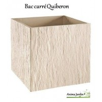 Bac carré en béton ciré 49 cm, Quiberon, ton Blanc, achat, grandon
