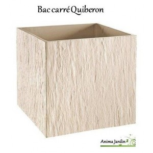bac carr en b ton cir 49 cm quiberon ton blanc achat grandon. Black Bedroom Furniture Sets. Home Design Ideas