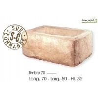 Bac en pierre, Timbre en pierre reconstituée, auge ancienne, HAIRIE, achat