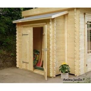 remise outils 2 portes adossable pour abri de jardin. Black Bedroom Furniture Sets. Home Design Ideas
