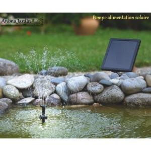Pompe à eau solaire pour petit bassin, jets d\'eau, avec leds ...