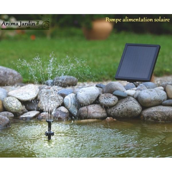 pompe eau solaire pour petit bassin jets d 39 eau avec leds panneau solaire. Black Bedroom Furniture Sets. Home Design Ideas