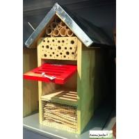 Hôtel à insectes 32cm, insectes utiles, biodiversité jardin, achat, pas cher