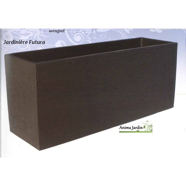 Jardini re futura 90x40 wengue en b ton cir grandon for Grande jardiniere beton