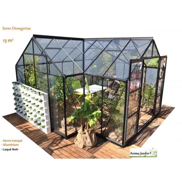 Serre de jardin orangeraie sirius verre tremp laqu for Achat tyrolienne jardin