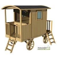 Roulotte Carry, maison enfant, diligence, voiture à chevaux, achat/vente