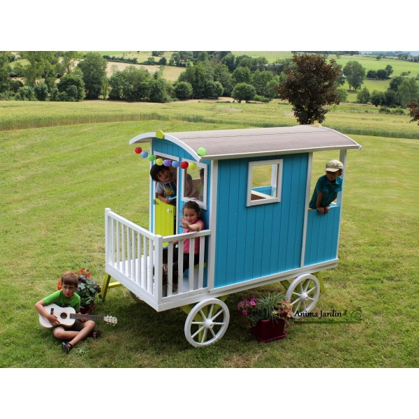 roulotte carry maison enfant diligence voiture chevaux achat vente. Black Bedroom Furniture Sets. Home Design Ideas