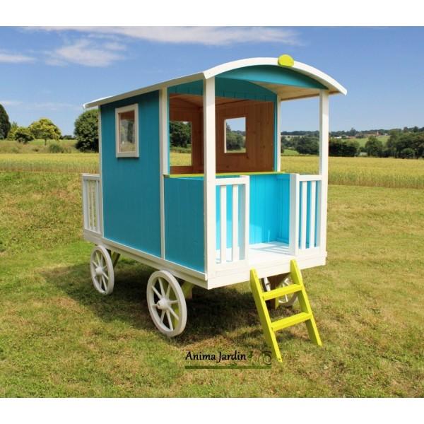 roulotte carry maison enfant diligence voiture chevaux achat vente. Black Bedroom Furniture Sets. Home Design Ideas