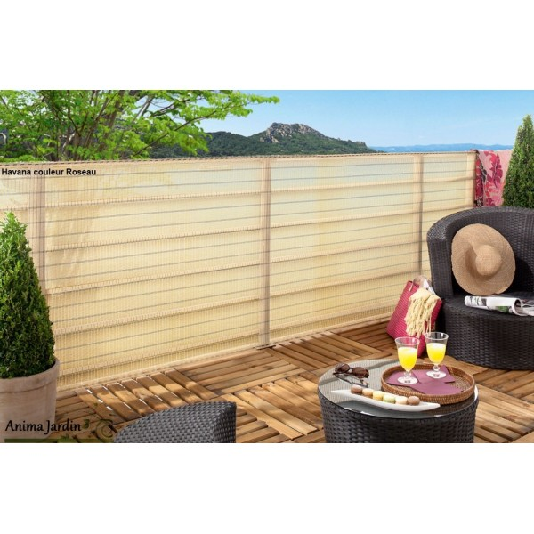 Brise vue d co tiss d cor havana 1x5m occultation 85 for Jardin 85