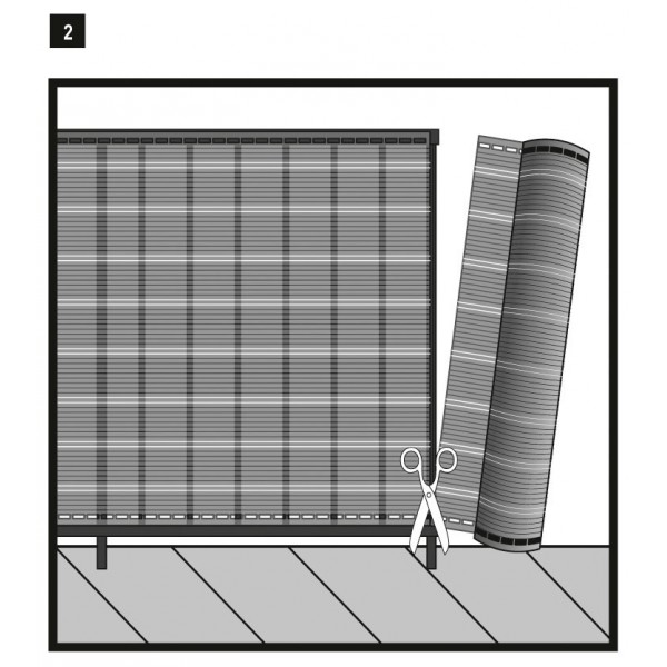 brise vue d co tiss d cor havana 1x5m occultation 85. Black Bedroom Furniture Sets. Home Design Ideas
