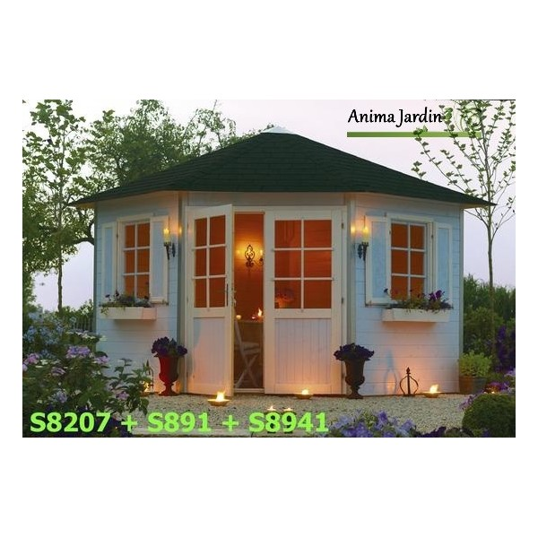 Abri de jardin d 39 angle 28mm solid nancy s8207 pyramid for Abri de jardin solid