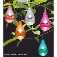 Lampes solaires colorées, à suspendre, déco jardin, pas cher, achat