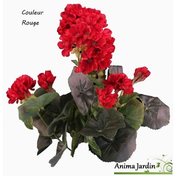 Pot De Geraniums Artificiels Fleur Artificielle Deco Jardin Pas Cher