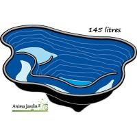 Bassin de jardin préfabriqué Calmus, bassin rigide, ubbink, PVC noir,  achat/vente