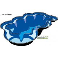 Bassin de jardin Neptune, 3800 litres, bassin rigide, ubbink, PVC noir,  achat/vente
