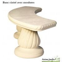 Banc cintré 160 cm en pierre reconstituée Romantique, Grandon, achat/vente