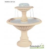 Fontaine Cascade en pierre reconstituée, 2 vasques, H 124 cm, grandon, achat/vente