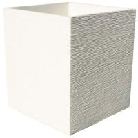 Bac carré PERFECT 40 IVOIRE en béton ciré