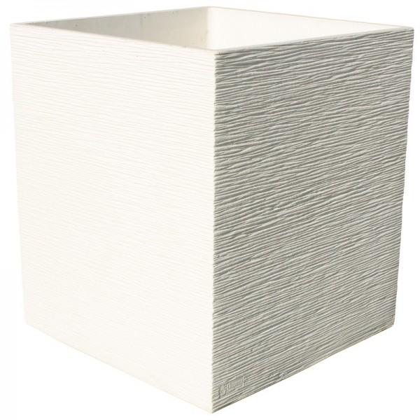 Bac carr perfect 40 ivoire en b ton cir for Grande jardiniere beton