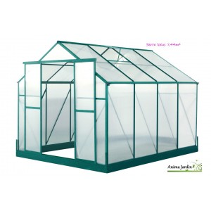 serre de jardin en polycarbonate double paroi lotus 7. Black Bedroom Furniture Sets. Home Design Ideas