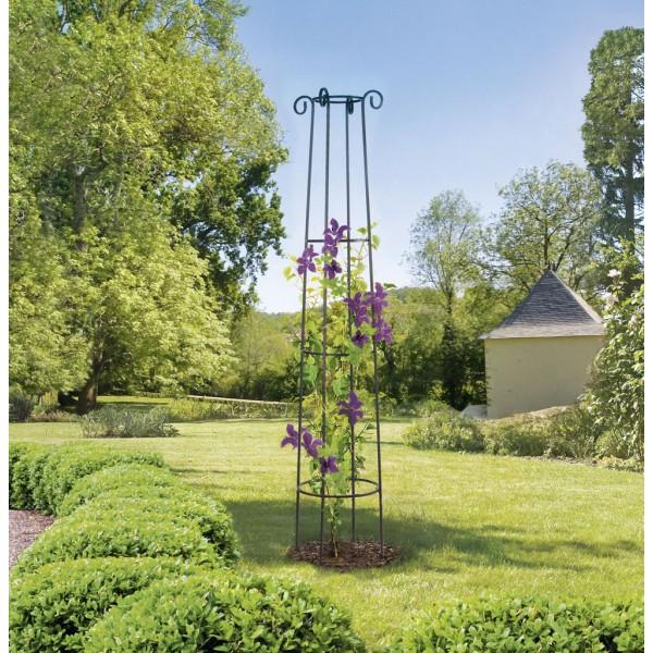 Colonne m tal support plantes ob lisk d coration jardin for Achat plante jardin