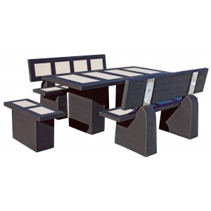 salon de jardin en b ton cir status polar wengu framusa. Black Bedroom Furniture Sets. Home Design Ideas