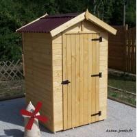 Abri de jardin bois, 2m², petite taille, cabine plage, achat/vente