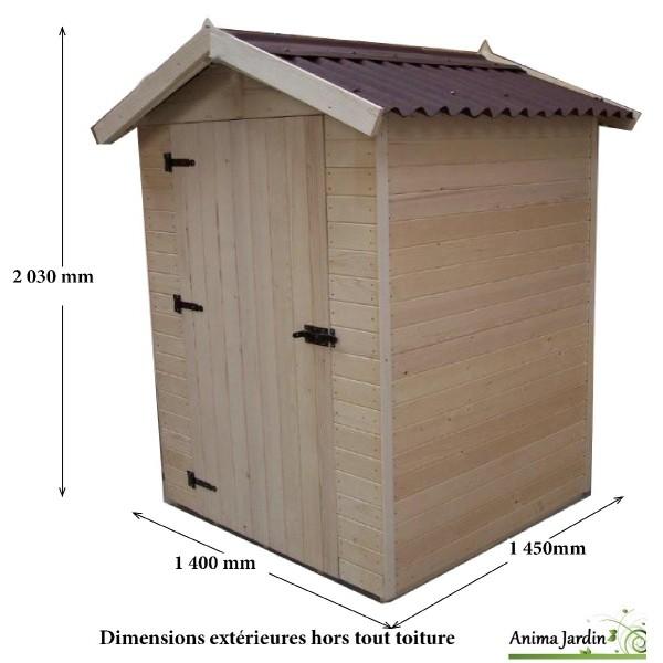 Abri de jardin bois 2m ext rieur petite taille cabine plage achat vente - Abri jardin grande taille ...