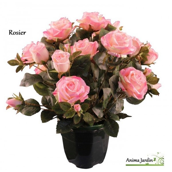 Rosier artificiel fleur artificielle en tergale d co for Fleurs artificielles toussaint pas cher