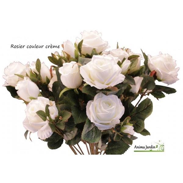 Rosier artificiel fleur artificielle en tergale d co for Fleur a repiquer pas cher