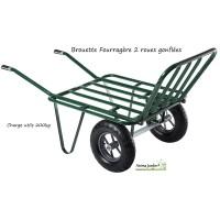 Brouette fourragère, 2 roues gonflées, gros volume, agricole, achat/vente