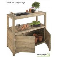 Table de rempotage et semis en bois, 2 portes, jardipolys, achat, pas cher