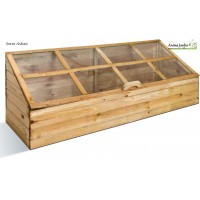 Serre de jardin en bois, châssis pour semer, quadruple,  jardipolys, pas cher