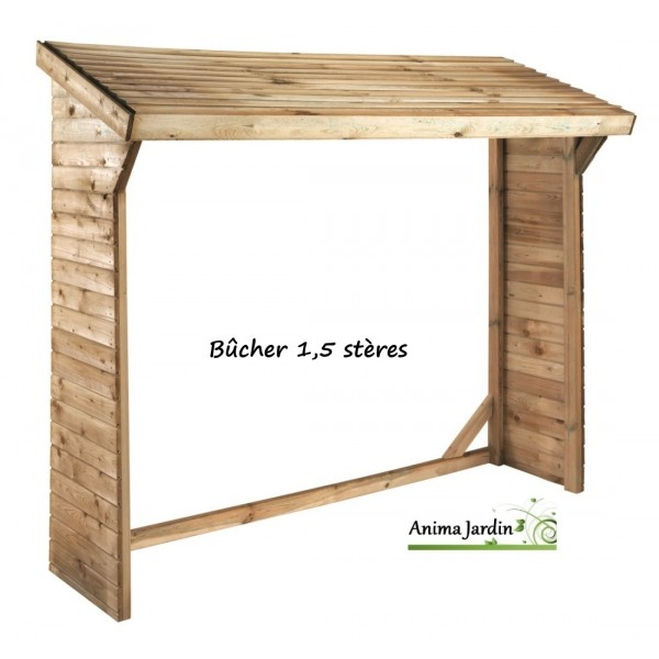 abri b ches mural 1 5 st res olbia autoclave pas cher jardipolys achat. Black Bedroom Furniture Sets. Home Design Ideas